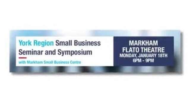 Video: Markham Small Business Seminar - York Small Business Seminar - www.smallbusinessseminar.ca