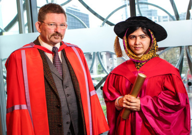 Malala receives honorary Doctor of Civil Law from the University of King's College (CNW Group/University of King's College)