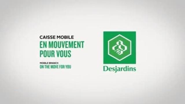 Vidéo : La caisse mobile Desjardins assemblée et conçue entièrement au Québec, à même un véhicule Novabus d'occasion.