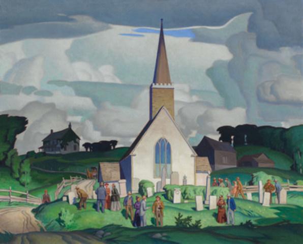Country Crisis d'A. J. Casson est considérée comme la toile la plus connue du membre du Groupe des Sept. Cette œuvre fabuleuse a été acquise pour 1534000 $, fracassant ainsi le précédent record établi pour cet artiste. (Groupe CNW/Heffel Gallery Limited)
