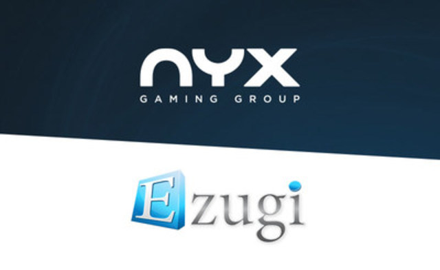 NYX partners with Ezugi NJ to deliver the first and only live dealer product for digital gaming in the US. (CNW Group/NYX Gaming Group Limited)