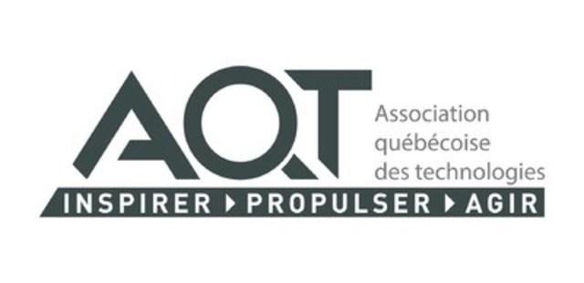 Logo : Association québécoise des technologies (AQT) (Groupe CNW/Association québécoise des technologies (AQT))