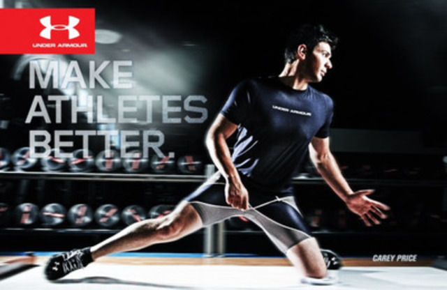 Performance apparel world leader Under Armour announced today that Montreal Canadiens No. 31 Carey Price has joined its elite roster of professional athletes. (CNW Group/UNDER ARMOUR)