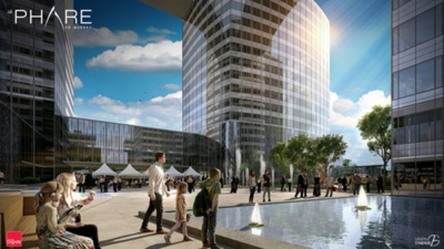 Le Phare de Québec. The $600 million investment project will offer over two million square feet of mixed-use space and notably featuring a 65-storey tower. The complex will be complemented by three sister towers of between 25 and 30 storeys each. (CNW Group/Groupe Dallaire inc.)