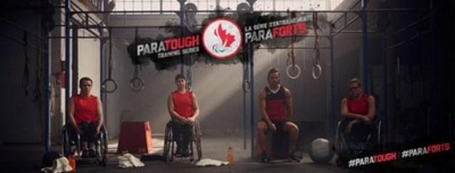 Les joueurs de basketball en fauteuil roulant Jamey Jewells, Cindy Ouellet, Nik Goncin et Katie Harnock font parti de la Série d'entraînements ParaForts, la toute première série d'entraînements présentée entièrement par des paralympiens. Crédit : CPC/Tyler Gray/John Stevancec/Westside Studio (Groupe CNW/Comité paralympique canadien (CPC))