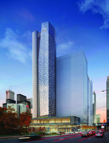 Delta Hotels and Resorts' new 45-storey flagship hotel is being built in downtown Toronto, and is projected to open in late 2014. The hotel will provide the most upscale four-star hotel experience in the city and will fully represent the new Delta. (CNW Group/Delta Hotels and Resorts)
