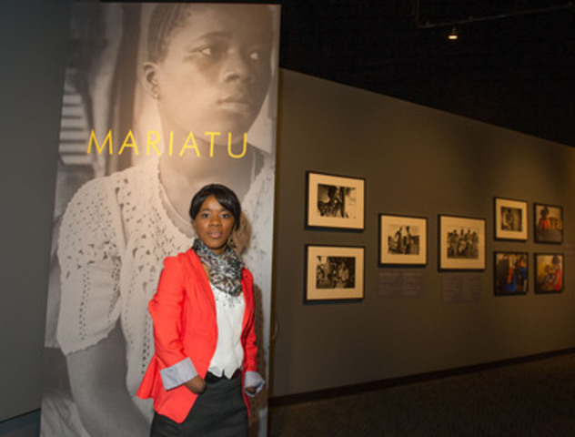 Mariatu Kamara, one of the women featured in the exhibition Eleven Women Facing War at the Canadian War Museum. (CNW Group/Canadian War Museum)