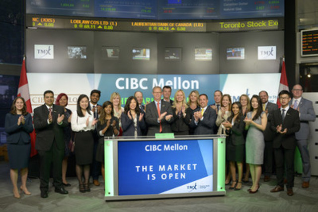 Tom Monahan, President & CEO, CIBC Mellon, joined Richard Rohan, Vice-President, Corporate Sales, Toronto Stock Exchange to open the market to celebrate 20 years as an organization. Founded on July 1, 1996, CIBC Mellon is a Canadian company focused on the investment servicing needs of Canadian institutional investors and international institutional investors into Canada. CIBC Mellon is 50-50 jointly owned by The Bank of New York Mellon (BNY Mellon) and Canadian Imperial Bank of Commerce (CIBC). For more information, please visit www.cibcmellon.com. (CNW Group/TMX Group Limited)