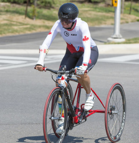 Shelley Gautier (Toronto, Ont.), a 12-time world champion, is among the athletes nominated to Canada's para-cycling team for the Rio 2016 Paralympic Games. (CNW Group/Canadian Paralympic Committee (CPC))
