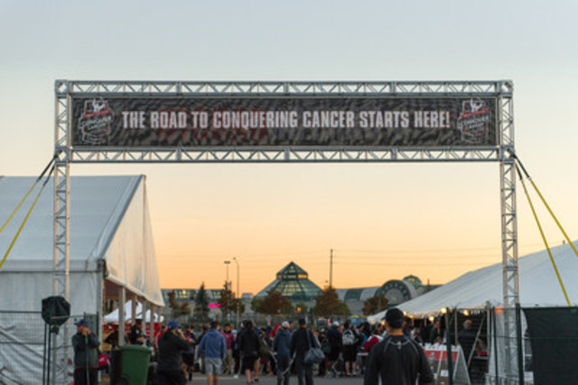 5th annual Road Hockey to Conquer Cancer on September 26th established 2 Guinness World Records while raising $2.2 million for cancer research at the Princess Margaret Cancer Centre.   (CNW Group/Princess Margaret Cancer Foundation)