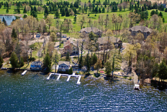 Set on 3.41 acres with over 335 feet of pristine waterfront on Wolfe Lake and backing onto Evergreen Golf Course, Wolfe Springs Resort can be yours at 70% off the developer's last listed prices. Register today for the online auction. (CNW Group/Gordon's Estate Services)