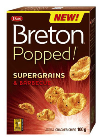 Dare Foods Limited introduces Breton® Popped!™, Canada's first supergrain cracker chip (CNW Group/Dare Foods Limited)