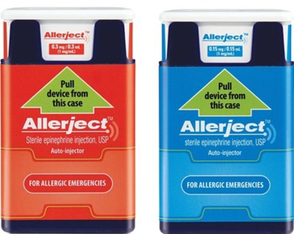 Front label of the two affected products. The 0.15 mg/0.15 mL product is in blue labelling and the 0.3/0.3 mL product is in red labelling (CNW Group/Sanofi Canada)
