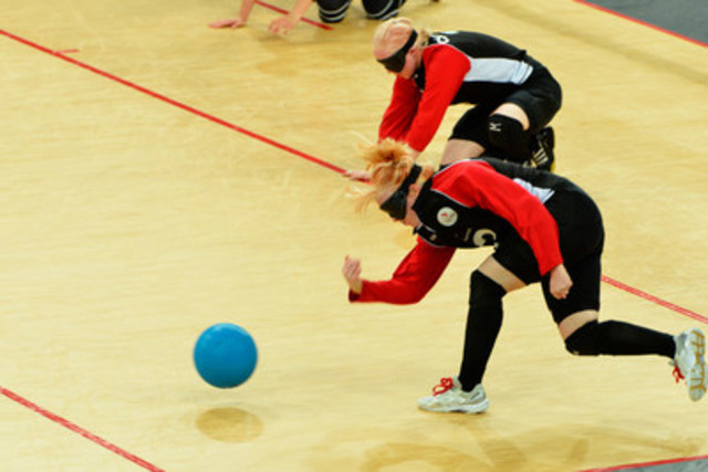 On Friday, Aug. 26 in Toronto, the Canadian Blind Sports Association and the Canadian Paralympic Committee will announce the six men and six women who will be nominated to represent Canada in goalball at the Rio 2016 Paralympic Games this September. Photo:Phillip MacCallum / Canadian Paralympic Committee (CNW Group/Canadian Paralympic Committee (CPC))