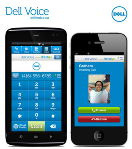 Dell Voice - Dell's new app, a free to download mobile VoIP app that can help Canadians reduce their phone bill. (CNW Group/Dell Canada Inc.)