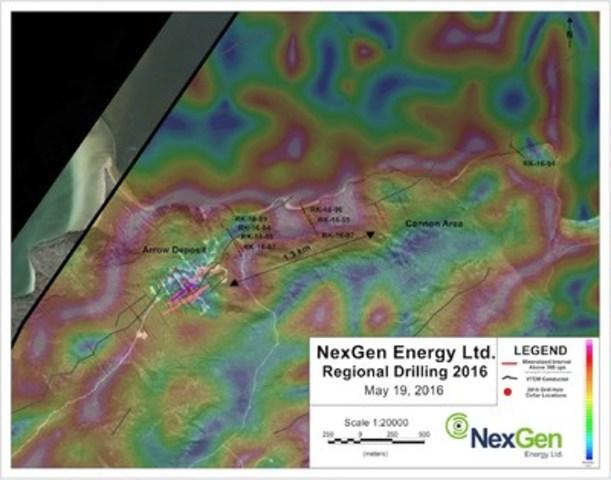 Figure 2: Regional Drill Hole Locations (CNW Group/NexGen Energy Ltd.)