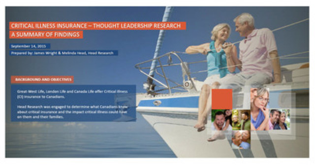 Critical illness insurance – thought leadership research: Summary of findings (CNW Group/London Life Insurance Company)
