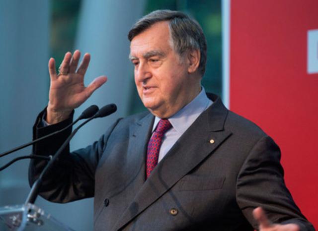 Lucien Bouchard, président du conseil d'administration de la Fondation Montréal inc.  (Groupe CNW/Fondation Montréal inc.)