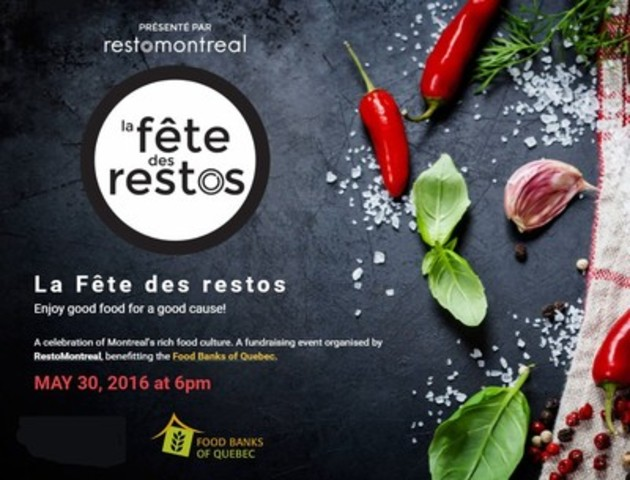 La Fête des restos: Good food for a good cause (CNW Group/RestoMontreal)
