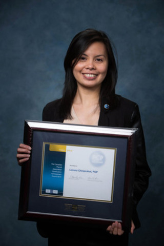 The Canadian Payroll Association welcomed 601 newly certified Payroll Compliance Practitioners and 50 Certified Payroll Managers at Prairie Region Certification Recognition Events in April. Calgary's Lorena Chinprahat achieved Gold honours for top marks in the Prairies region. More at payroll.ca. (CNW Group/Canadian Payroll Association)