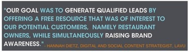 -Hannah Dietz, Digital and Social Content Strategist, Lavu (CNW Group/CNW Group Ltd.)