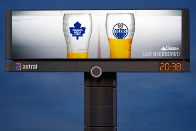 Western Canada Grand Prize: The Molson Live Beerboard from Rethink (CNW Group/Astral Out-of-Home)