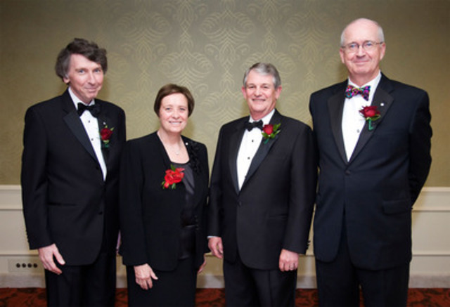 Inaugurated at the 14th Annual ICD Fellowship Awards Gala on June 9, 2011 in Toronto, the 2011 ICD Fellows are (from left to right) John MacNaughton, Maureen Kempston Darkes, Ian Bourne, and Spencer Lanthier. (CNW Group/Institute of Corporate Directors (ICD))