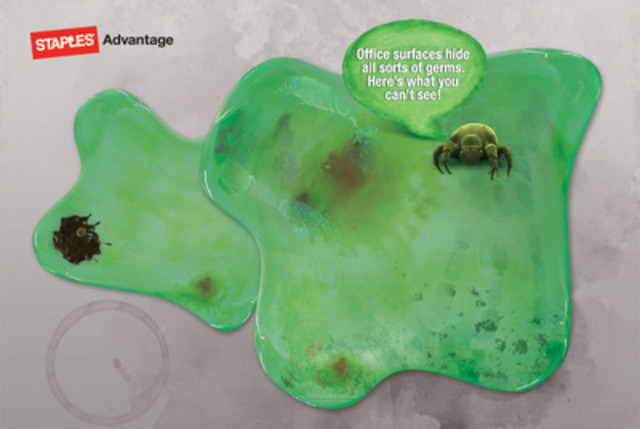 Staples Advantage uncovers the grimy truth about office germs. (CNW Group/Staples Advantage Canada)