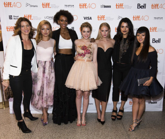 The female cast of Global's Heroes Reborn at the world premiere at the Toronto International Film Festival. (CNW Group/Shaw Media)