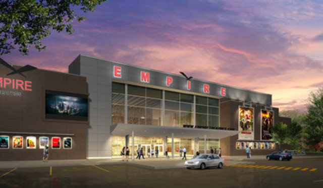 A rendition of the sleek, exterior design of the new Empire Theatres Kingston complex, scheduled to begin construction in November 2011. (CNW Group/EMPIRE THEATRES LIMITED)