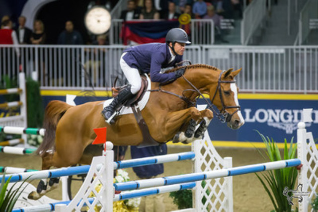 Kent Farrington of the United States won the $75,000 GroupBy 'Big Ben' Challenge riding Creedance to close out the CSI4*-W Royal Horse Show on Saturday, November 12, in Toronto, ON. Photo by Ben Radvanyi Photography (CNW Group/Royal Agricultural Winter Fair)