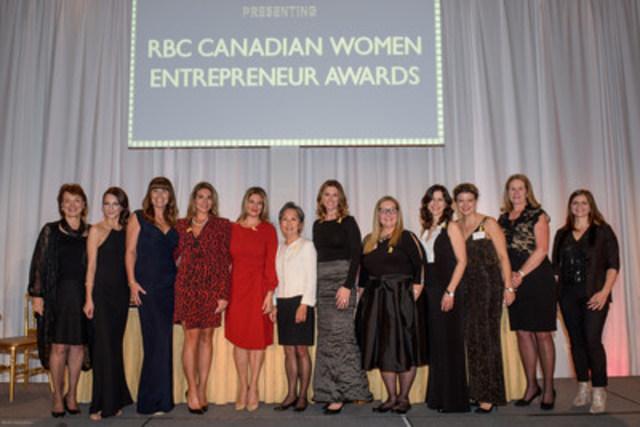 Les lauréats du prix RBC des femmes entrepreneurs canadiennes (Groupe CNW/Women of Influence Inc.)