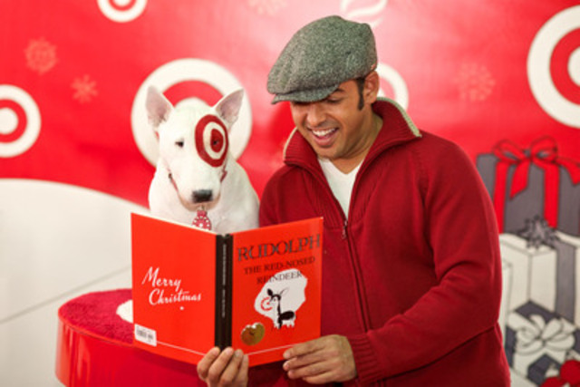 Shaun Majumder reads holiday classics at Dalhousie University Club on November 30th to kick off the Target Road Trip. (CNW Group/Target Canada)