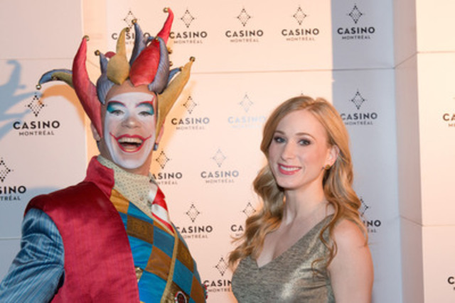 Last Thursday, on the Red carpet, Joannie Rochette with the Joker. (CNW Group/CASINO DE MONTREAL)