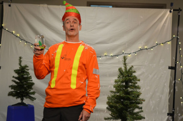 Toronto Hydro's Ideas for Greening the Holidays - Mike Carnegie, a Toronto Hydro underground supervisor, sings the first verse of Toronto Hydro's 12 Days of Christmas. Each day, beginning December 9, Toronto Hydro's 12 Days of Christmas will showcase a no/low cook recipe (perfect for entertaining) or a green holiday decorating idea. Recipe cards, instruction sheets and even some how-to videos will be posted online at www.torontohydro.com/holidays (CNW Group/Toronto Hydro Corporation)