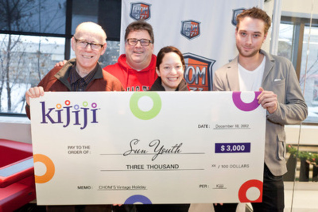 Kijiji donates $ 3,000 to Sun Youth