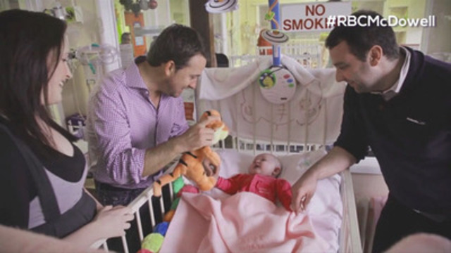 Video: Team RBC's Graeme McDowell visits Our Lady's Children's Hospital Crumlin in Dublin, Ireland.