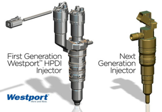 First Generation Westport HPDI Injector and Next Generation Injector. (CNW Group/Westport Innovations Inc.)