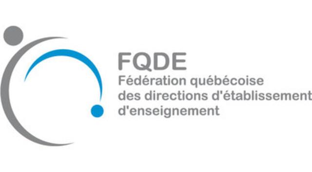 Logo : Fédération québécoise des directions d'établissement d'enseignement (Groupe CNW/Fédération québécoise des directions d'établissement d'enseignement (FQDE))