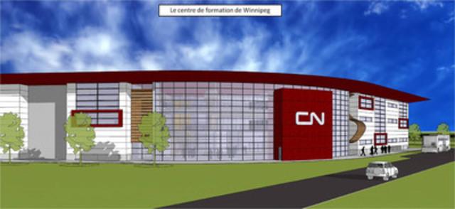 Le centre de formation de Winnipeg (Groupe CNW/LA COMPAGNIE DES CHEMINS DE FER NATIONAUX DU CANADA)