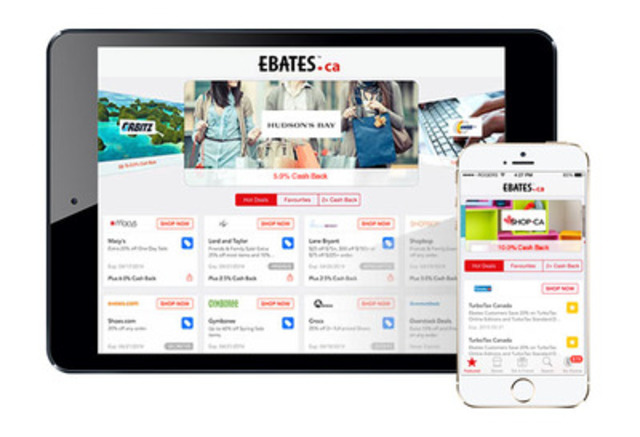 Earn Cash Back anytime and anywhere with the Ebates App for iPhone and iPad (CNW Group/Ebates.ca)