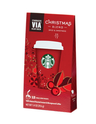 Starbucks VIA® Christmas Blend (CNW Group/Starbucks Coffee Canada)