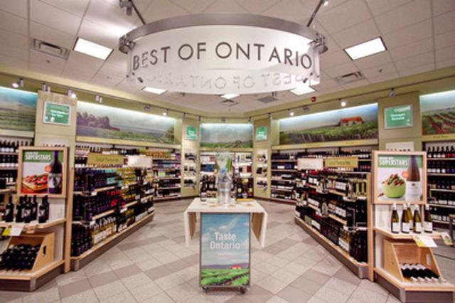 Les meilleurs vins de l'Ontario sont en vedette dans les succursales de la LCBO. (Groupe CNW/Régie des alcools de l'Ontario)