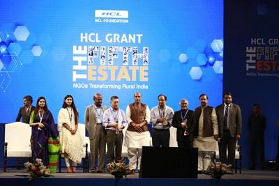 รัฐมนตรีมหาดไทยอินเดียให้เกียรติมอบรางวัล HCL Grant ประจำปี 2018