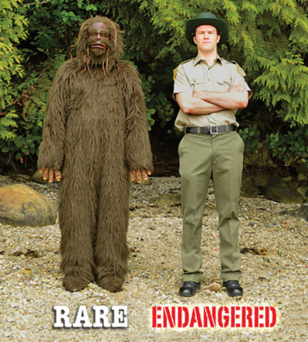 Bigfoot and Ranger Dave are central characters in an online video that promotes the BCGEU's 'Save BC Parks' campaign, which is aimed at increasing government funding for a parks system that has been heavily impacted by a decade of funding cuts. (www.saveBCparks.ca) (CNW Group/B.C. Government and Service Employees' Union)