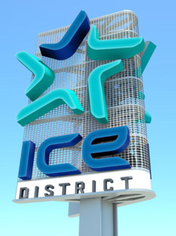 Ice District Brand Mark and signage (CNW Group/Kramer Design Associates)