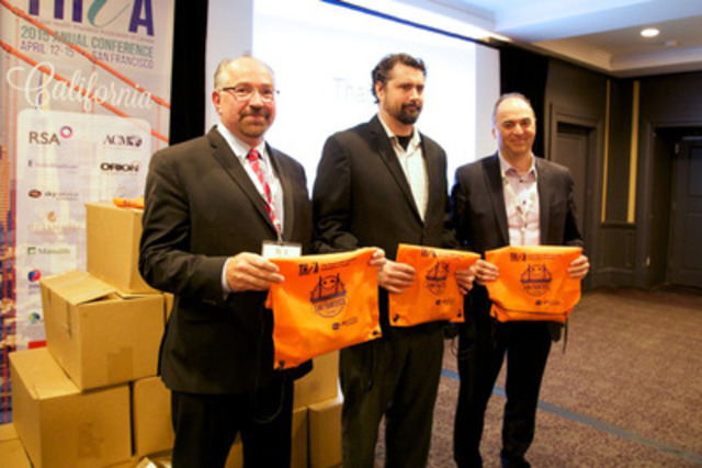 From L to R: Alex Bittner, President, THiA; Nick Van Borst, Baker Places; Sam Cimone, President, Skyservice Air Ambulance (CNW Group/Travel Health Insurance Association of Canada)
