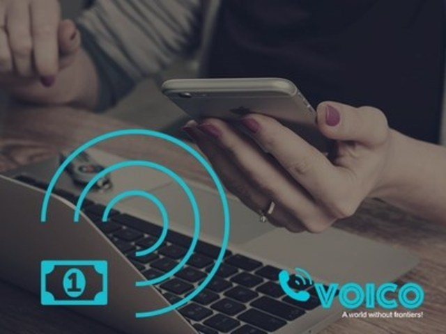 Voico - Free International Texting, Audio and Video Calling App with Call Recording Functionality (CNW Group/Voico Inc.)