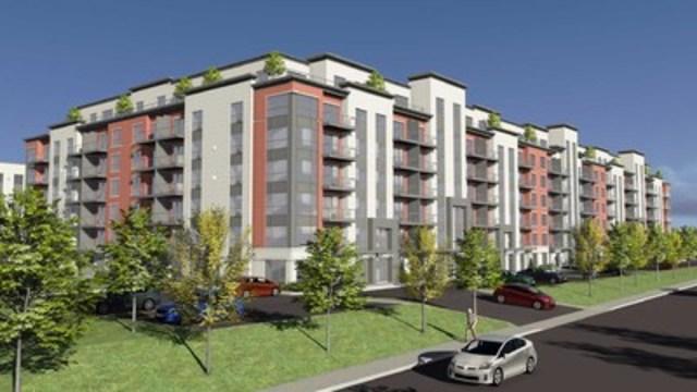 Habitations Trigone et le Fonds immobilier de solidarité FTQ s'associent dans le nouveau projet locatif Viva-Cité à Sainte-Thérèse  (Groupe CNW/Fonds immobilier de solidarité FTQ)