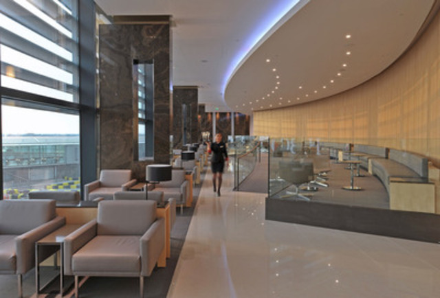 Main Lounge with 2 tier seating area. (CNW Group/Air Canada)